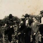 """Tolone 27 luglio 1933 – Paolo Cortolezzis """"Paulin de Sante"""", Sisto Cimenti """"da Vosie"""" e Evaristo Cortolezzis"""