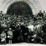 Lussemburgo, 19 luglio 1953 - visita di don Lorenzo Dassi al numerosissimo gruppo di emigranti treppolani
