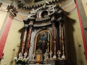 Dettaglio dell'altare maggiore