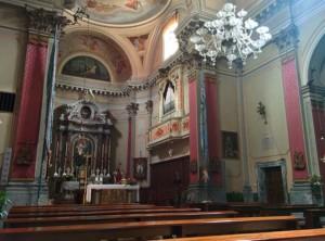 Interno della chiesa vista da sinistra