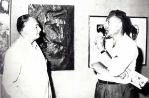 Il pittore Guttuso e De Cillia alla Galleria del Girasole