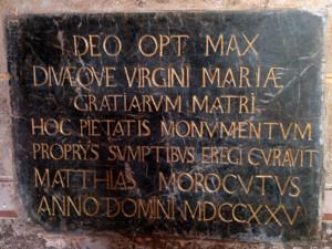 Ex voto Matthias Morocutus
