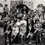 1960 La fanfara composta dai bambini di Treppo e diretta da don Lionello Baracetti