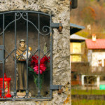 Particolare della statua di Sant'Antonio