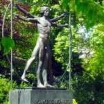 """The Vitruvian Man"" a Belgrave Square a Londra."