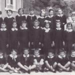 1958 Gli alunni della classe 3^ ritratti con la maestra De Marchi e Anita Moro