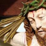 Dettaglio del volto del Cristo