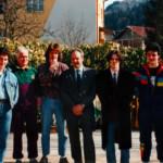Gruppo di giovani con il Presidente Blanzan