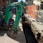22011 - Scavi di allacciamento alla centrale a biomassa hanno permesso di valutare lo stato di deterioramento della rete lungo Via Roma