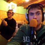 Chicco Sound e Dj Evan durante una diretta