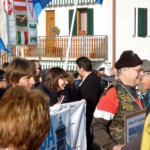 Gennaio 2011 - Giorgio Morocutti a capo del corteo contro l'elettrodotto e la privatizzazione dell'acqua