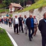 Ritorno della processione verso la seconda stazione