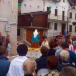 Breve sosta con la benedizione di Don Tarcisio