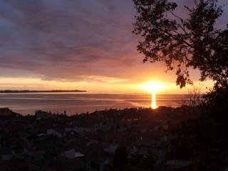 Pirano e il meraviglioso tramonto sul mar Adriatico